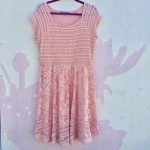 NY Collection Pretty Pink Lace Dress